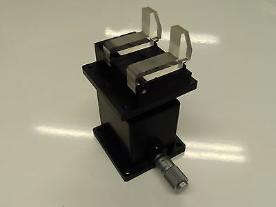 Mitutoyo  Parker Nrc Newport ? Lab Jack Vertical Positioner With Fiber Clamp