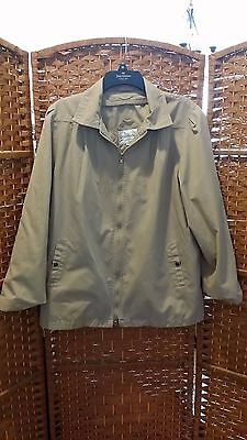 Coat Works Tan Adult Jacket Size 14 in Excellent Condition