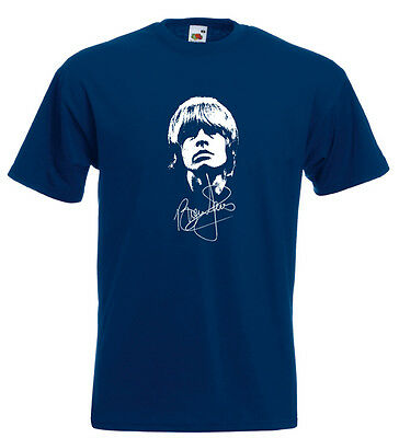 Brian Jones Rolling Stones Autograph T Shirt Mick Jagger Keith Richards 1960's