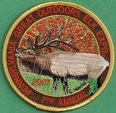 """Pennsylvania Game Fish Commission Related NEW 4"""" Pa Elk Outdoor Expo 2007 Patch"""