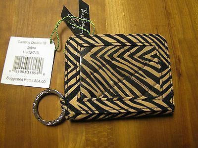 Vera Bradley Campus Double ID Case Zebra Pattern Item # 15375713