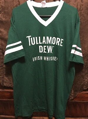 TULLAMORE DEW WHISKEY ~ MED ~ NEW Rugby Soccer Football Style Shirt BONUS KOOZIE