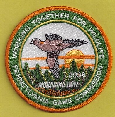 """Pa Pennsylvania Game Fish Commission NEW 2008 WTFW Morning Dove 4"""" Bird Patch"""