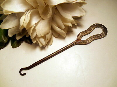 1910 Era Antique Advertising J.c. Penney Button Shoe Hook Metal Buttonhook Tool