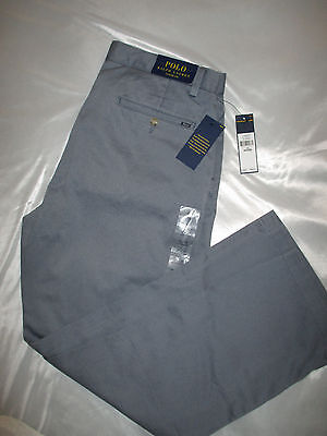 NWT- Polo Ralph Lauren BlueBerry Blue Classic Fit Khaki Chino size 34 x 29 Pants