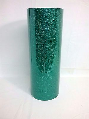 T-shirt Heat Transfer Vinyl PU Garment textile Graphics Glitter Green 1mtr