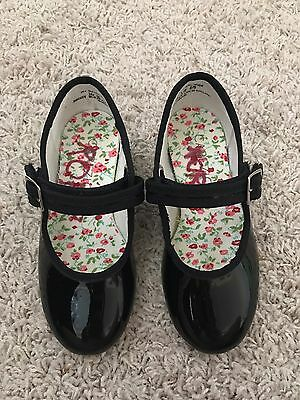CAPEZIO Girls Patent Leather Tele Tone Tap Shoes Mary Jane Sz 10 M