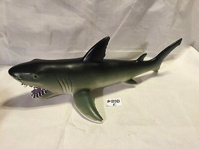 "Large 17"" Rubber Shark Soft Squeezable Toy Predator Shark Play Fish"