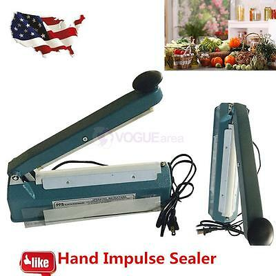 "8"" Hand Sealer Impulse Heat Manual Seal Machine Plastic Poly Bag Closer Kit new"