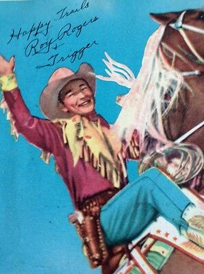 Roy Rogers Club Kit Item--Signed Picture  Roy- Trigger--Early 1950's Item