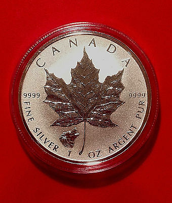 2016 *WOLF PRIVY* CANADA MAPLE LEAF 1 oz. SILVER REVERSE PROOF $5 COIN