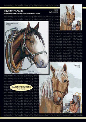 Country Threads X stitch Counted Cross Stitch Pattern Majestic Horses NEW
