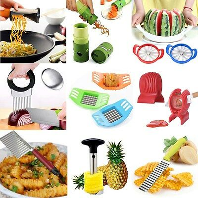 Kitchen Vegetable Spiral Slicer Potato Fruit Cutter Peeler Spiralizer Twister