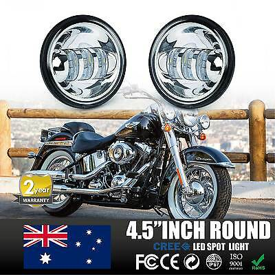 4.5inch LED Auxiliary Spot Fog Passing Light Lamp For Harley Motorcycle Sliver