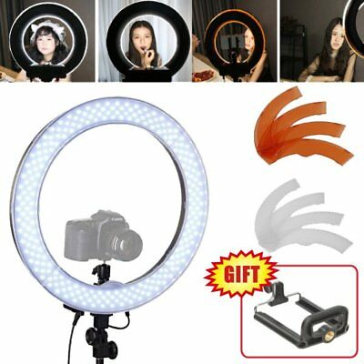 Diva Dimmable 48cm 55W LED Ring Light with Camera iPhone Holder for Photo Video