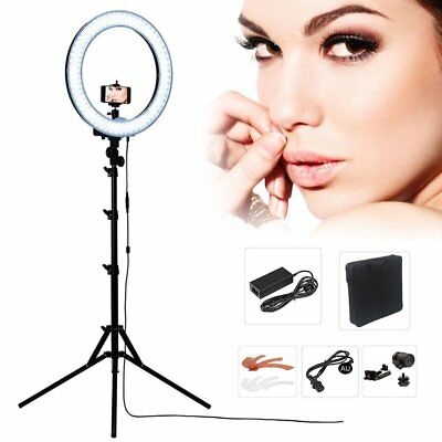 DIVA 48cm 55W Dimmable LED Ring Light + 6' Stand + Camera iPhone Holder fr Photo