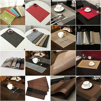 4pcs/Set Insulate Square Placemats Kitchen Tableware Restaurant Table Mat Decors