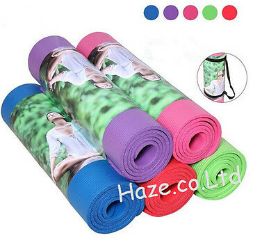 Non Slip Yoga Mat Exercise Workout Fitness Physio Pilates Gym Cushion Thick Hot