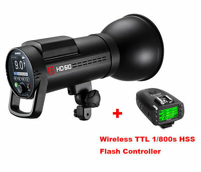 Jinbei HD-610 TTL HSS Mobile Battery Studio Flash +TR-611 Flash Controller Canon