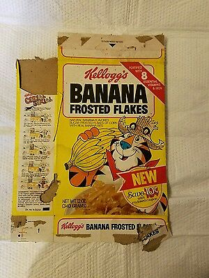 Vintage Kellogg's  Banana frosted flakes Cereal Box