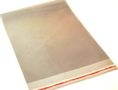 A4 high quality cellophane peal and seal clear self seal display craft card bags