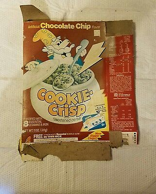 Vintage Purina Cookie Crisp  cereal box.