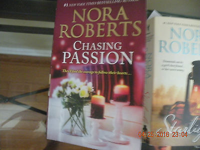 Nora Roberts/ Lot Of 2 Paperback Books -Chasing Passion / Starlight