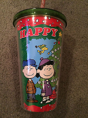 Peanuts Snoopy New Christmas Acrylic Cup Mug With Straw