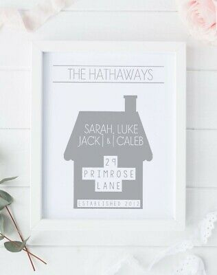 Personalised print - new home/ first house present/ house warming/ moving gift