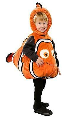 New Disney Store Nemo Plush Dress Up Costume 18-24 Months Clown Fish Squeaks