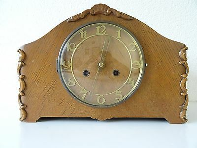 Mauthe German Vintage Antique Mantel Shelf Clock (Junghans Kienzle Hermle era)