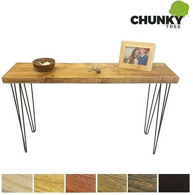 Console Table Rustic Chunky Side Table 12X2 Dressing Table Hairpin Legs