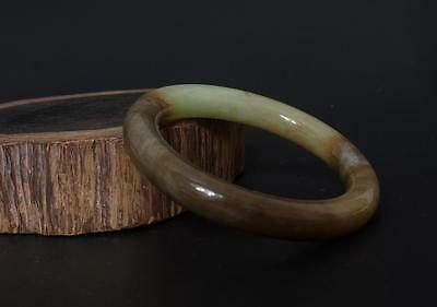 Very Perfect Chinese Carved Natural Hetian Jade Bracelet 60mm r95