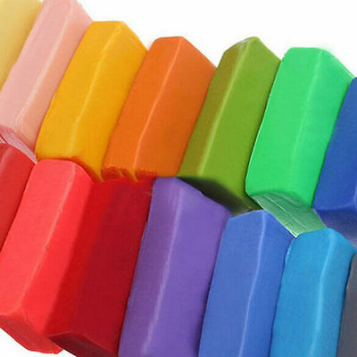 12 Colors Craft Soft Polymer Clay Plasticine Blocks Fimo Effect Modeling FO