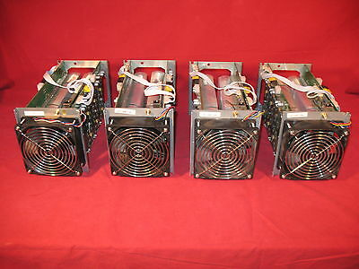 Lot of 4 Used    Bitmain AntMiner Bitcoin Miners   # 192.168.1.99