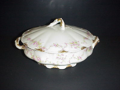 Theodore Haviland Limoges France Covered Vegetable Round Bowl Schleiger 341A
