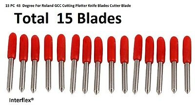 15 PC 45  Degree For Roland GCC Cutting Plotter Knife Blades Cutter Blade