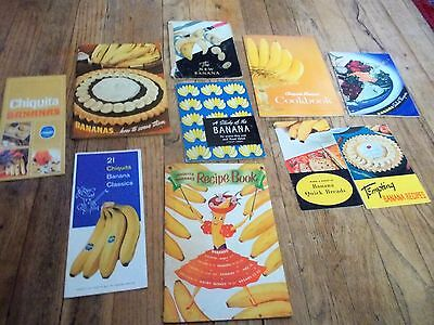 Lot of Vintage Recipe Booklets Pamphlets Advertising Banana Theme