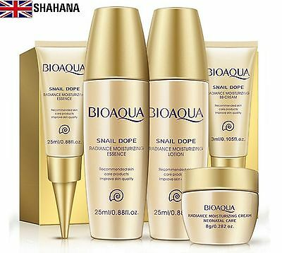 BIOAQUA 5PCS Travel Size Snail Extract Skin Care Kits Serum Lotion Toner BB Crem