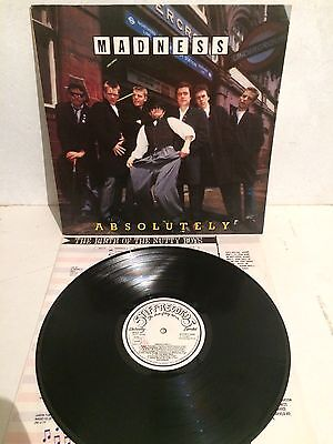 Madness - Absolutely  LP Vinyl SEEZ 29 Ita Press  EX/EX