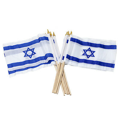 Lot 10 pcs National Flag of Israel Polyester Star of David 2 x1.3ft/40x60cm