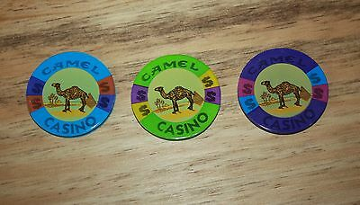 Camel Casino Poker Chips Smoking Advertisement 3 Pieces Gaming Collectors Set
