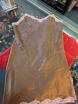 Victoria's Secret brown w/ pink  lace lingerie teddy negligee nighty M