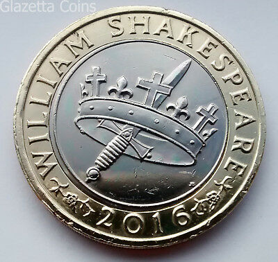 £2 Two Pound Coins - Shakespeare Comedies / Histories / Tragedies (2016)