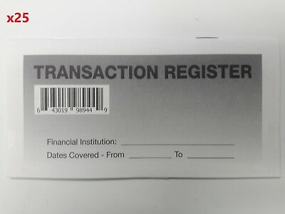 25 - Checkbook Transaction Registers - 2019-21 Calendar - Check Book Bank