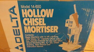 delta 14-650 hollow chisel mortiser new in the box.