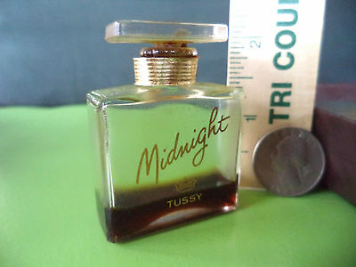 Vintage MIDNIGHT by TUSSY Perfume and Bottle and Stopper with Original Label