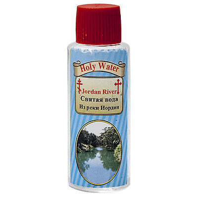 Blessed Holy Water from Jordan River Cross Bottle Holy Land Gift 50 ml