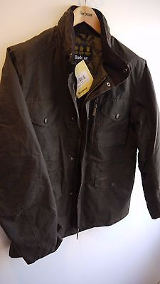 Barbour Men's Wax Sapper Jacket, Olive Green, New With Tags, Medium