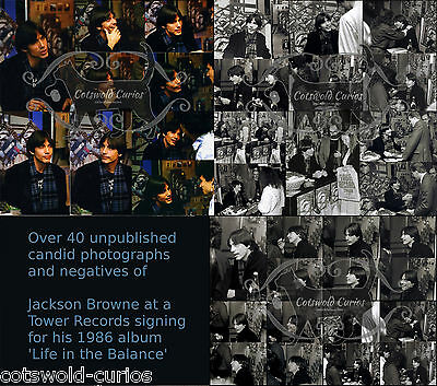 70's Icon JACKSON BROWNE  40+ Unpublished Candid Photographs with Negatives